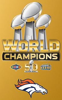 The Denver Broncos are Three-Time World Champions